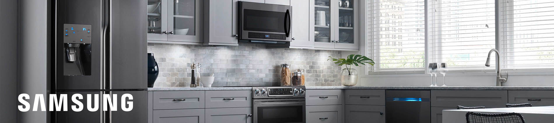 Samsung, Black, Stainless, Kitchen, Urban