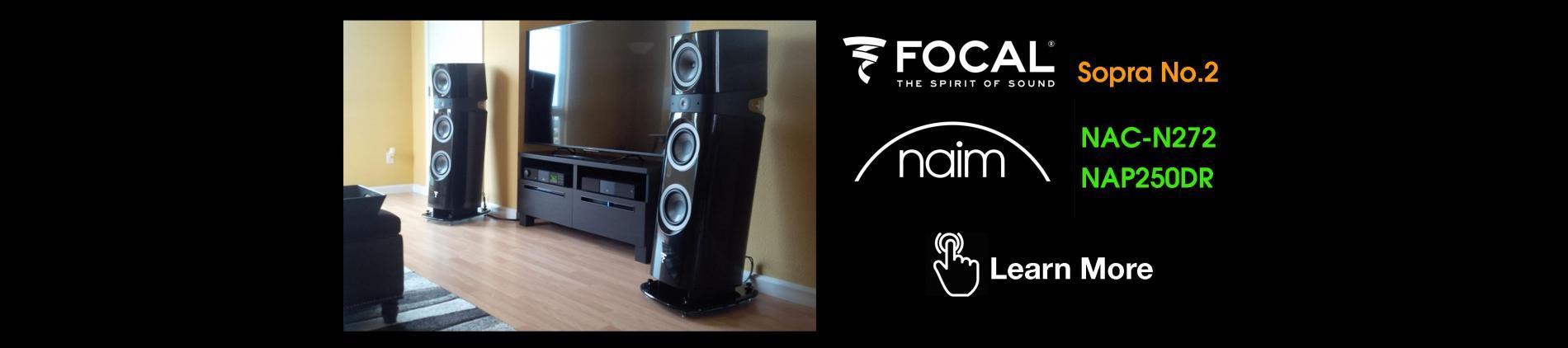 Naim Audio NAC-N272, NAP250DR, Focal, Sopra No2, Sopra, Naim Classic Series, High End Audio Victoria,BC, Stereos Victoria, BC, Tidal Music, Streaming Audio