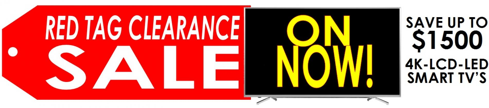 Red Tag Clearance Sale