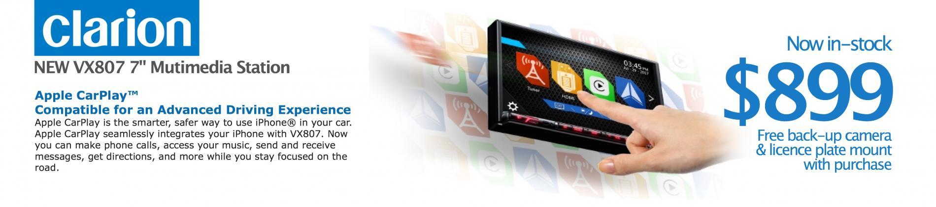 Clarion VX807 SALE!