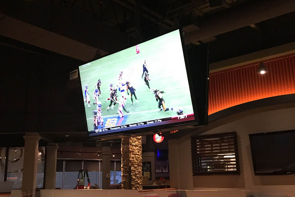 Commercial TV, restaurant TV