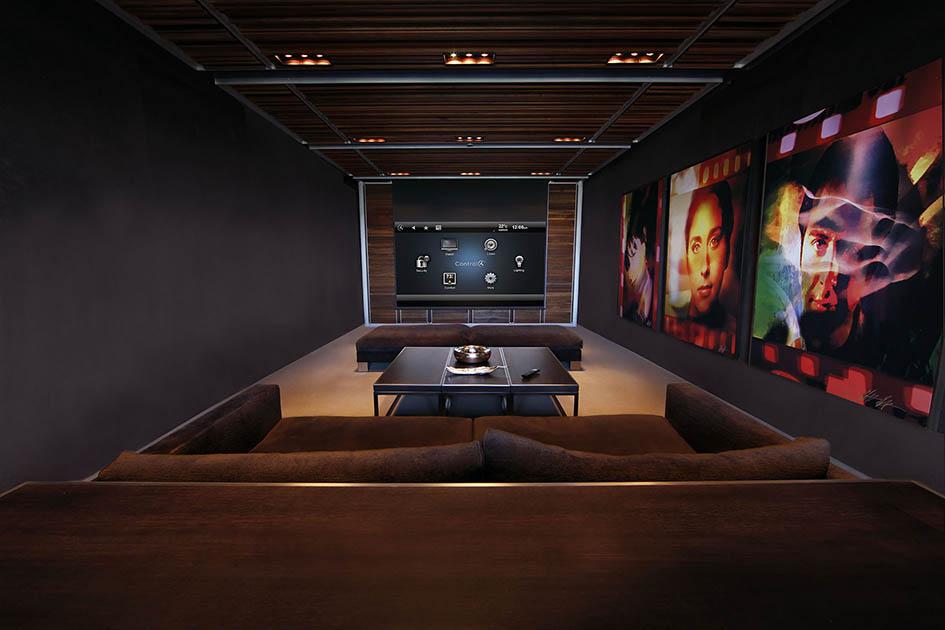 Control 4, home theatre, custom home, media controller