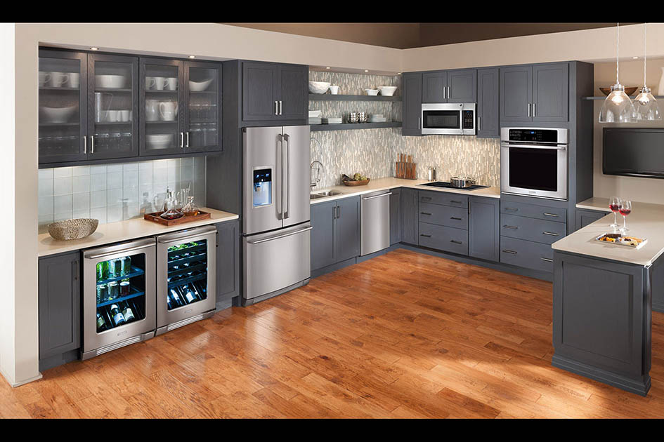 kitchen, fridge, wine fridge, microwave, oven, dishwasher