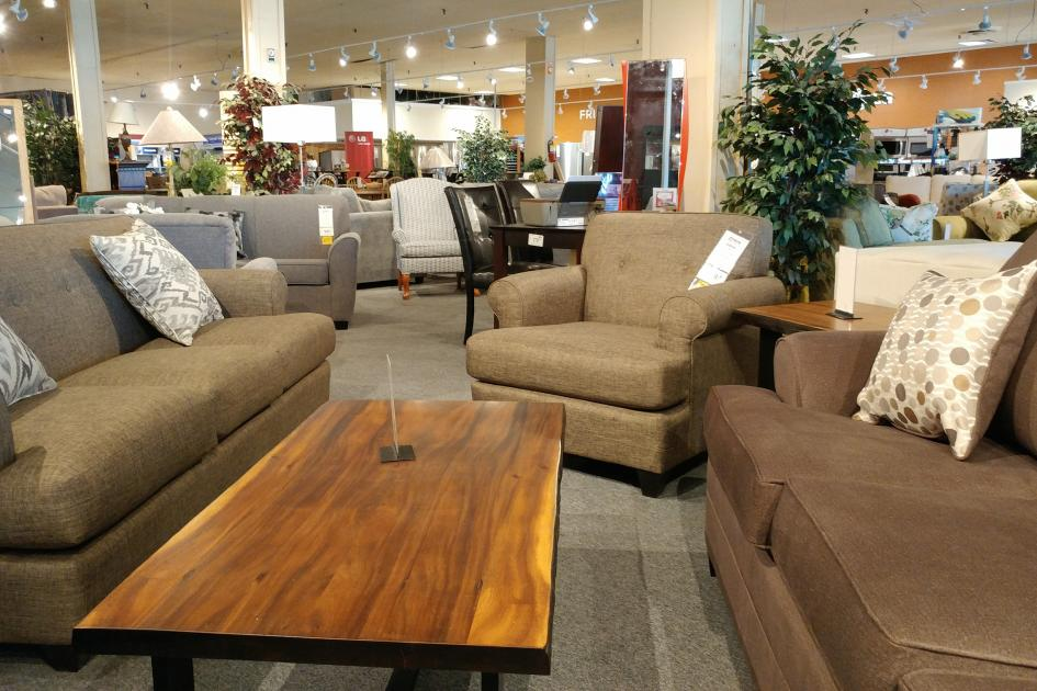 Gows,furniture,living room,sofa,sectional,coffee table