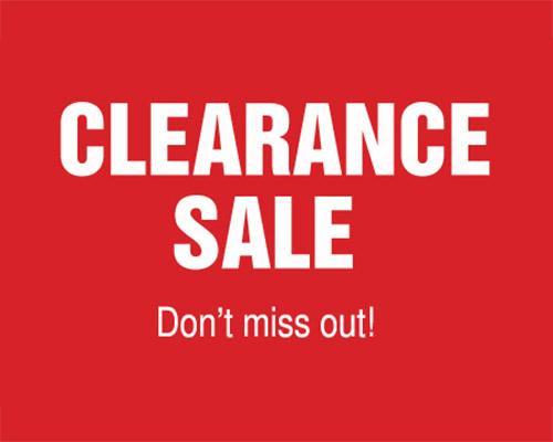 clearance,specials,liquidation,deals