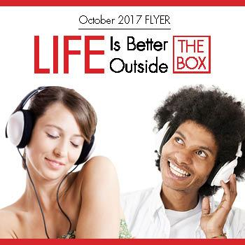 Life is Better Outside the Box, Flyer, Savings, AVU, October
