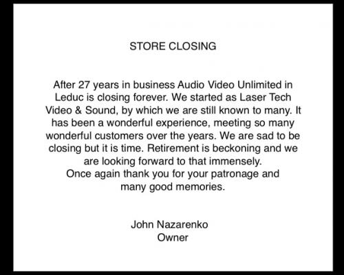 Thank you to Customers