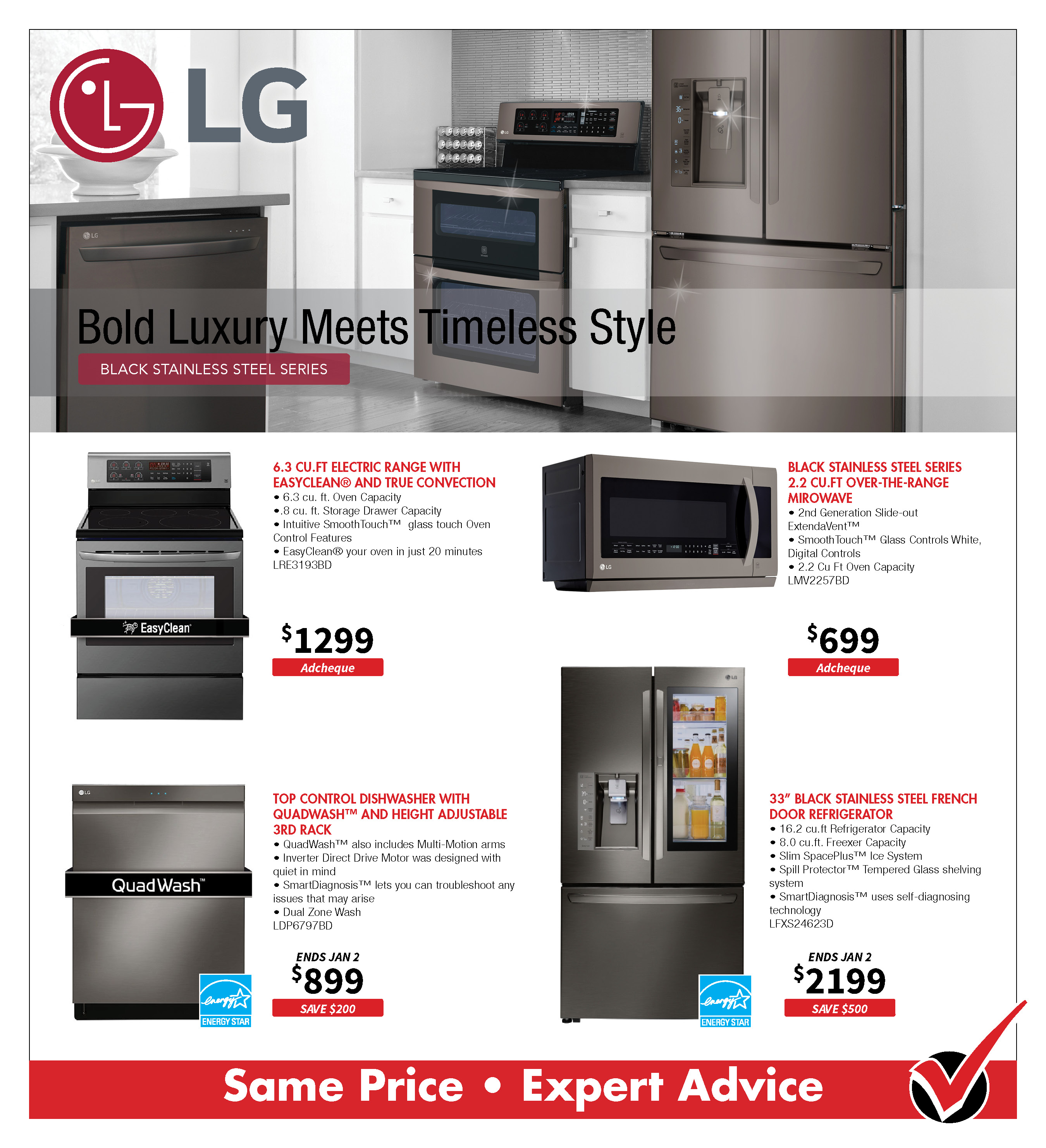 LG Black Stainless Steel Appliances