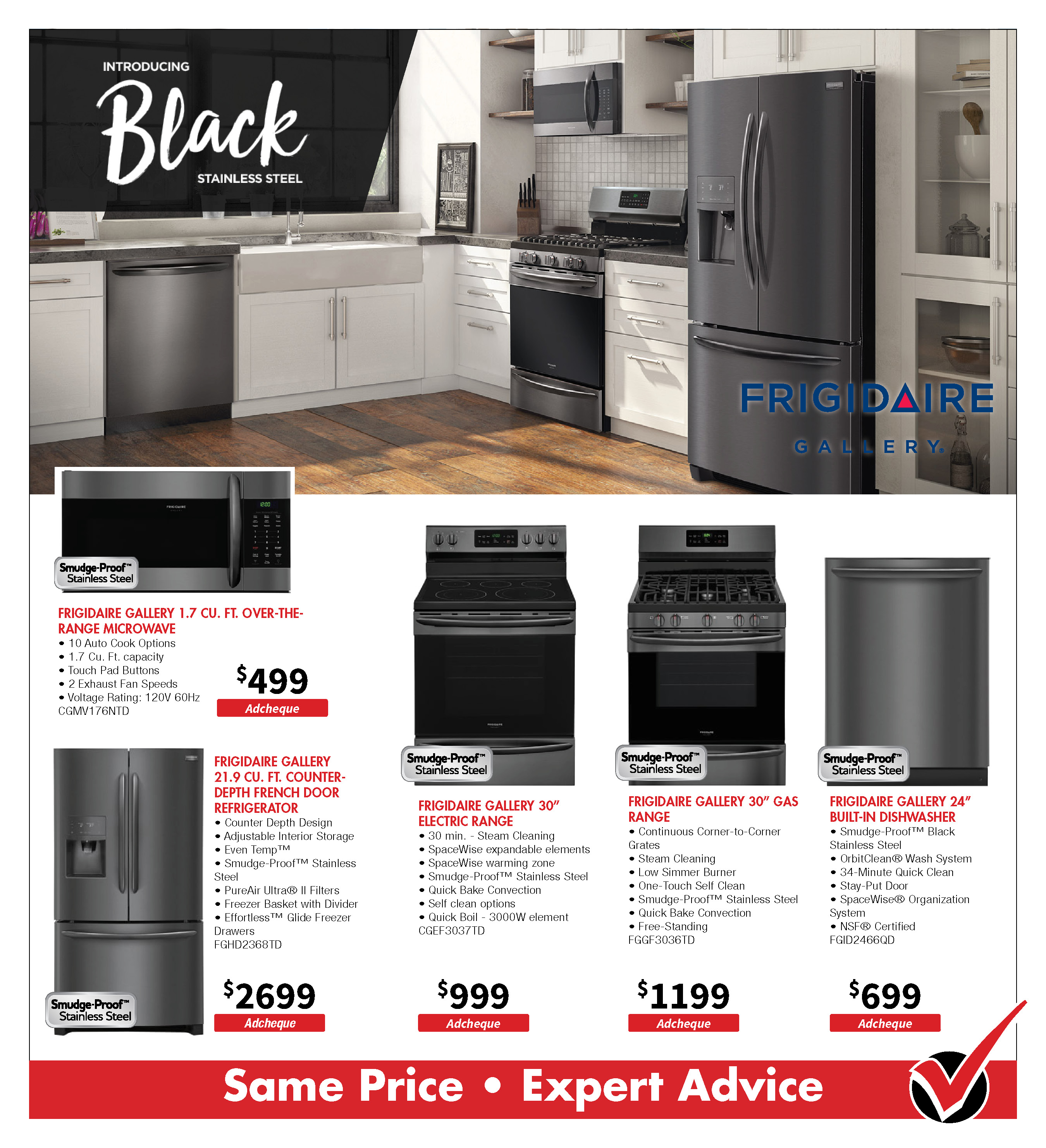 Frigidaire Black Stainless