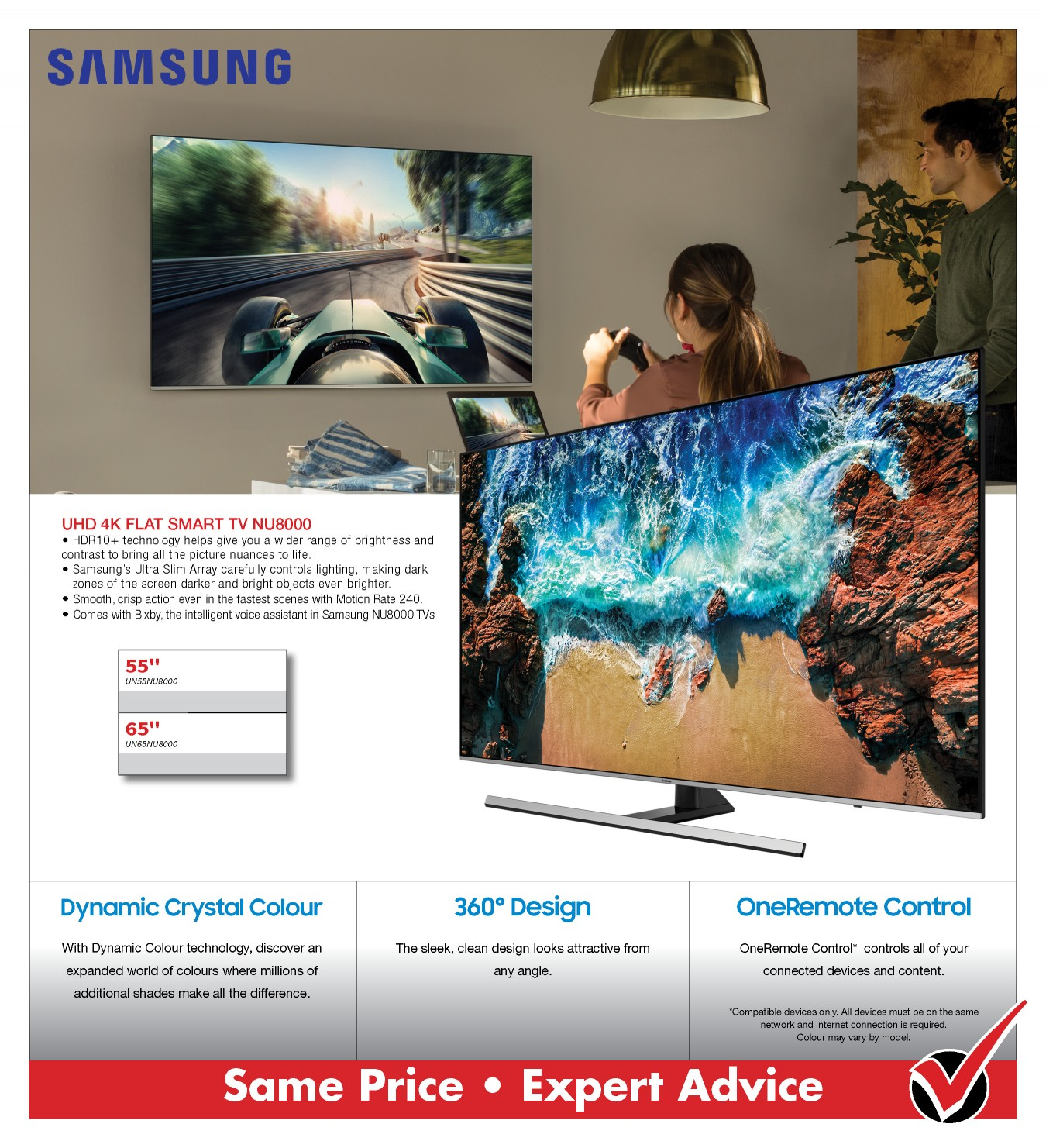 SAMSUNG NU8000 UHD TV