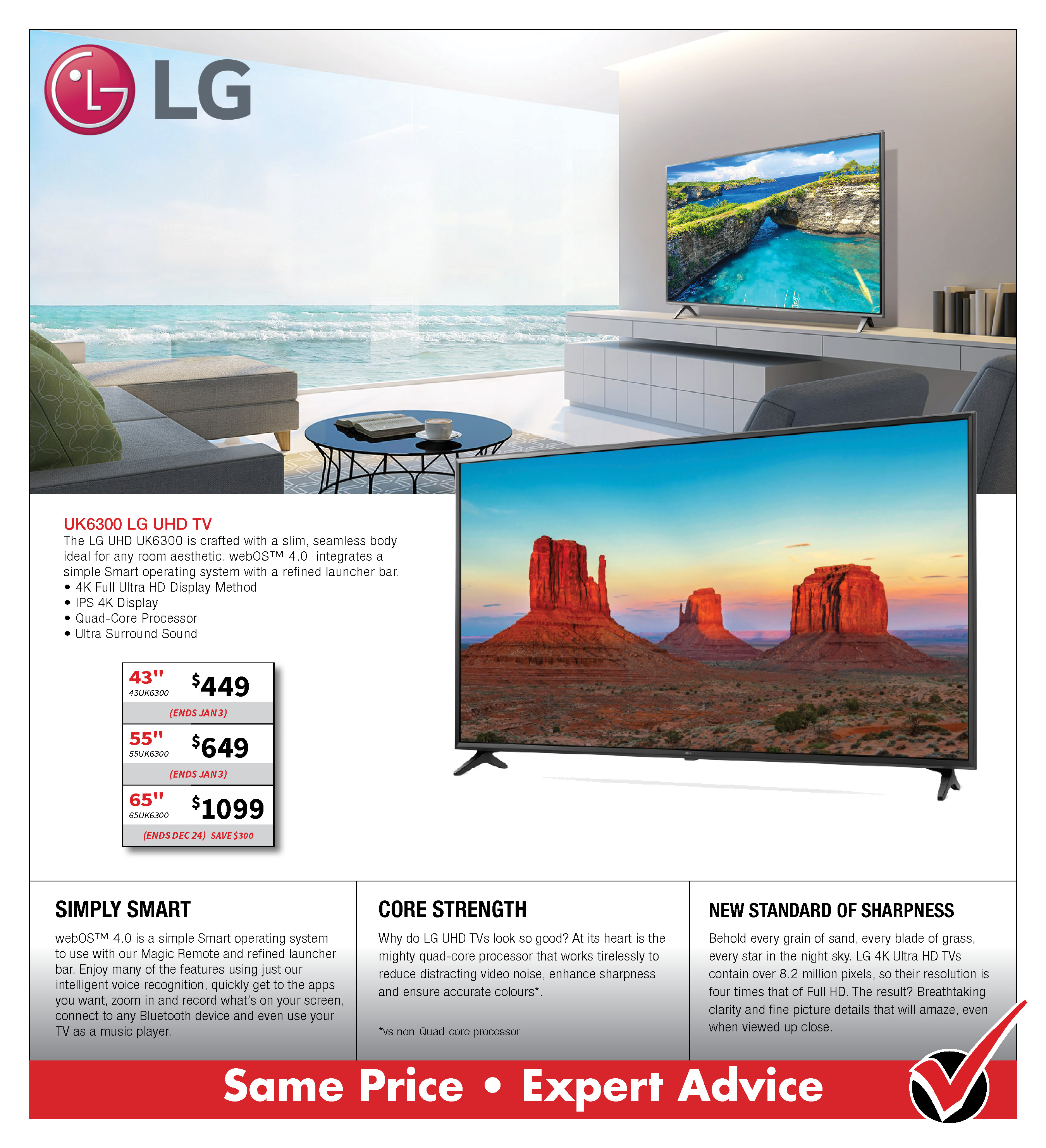 LG UK6300 UHD TV