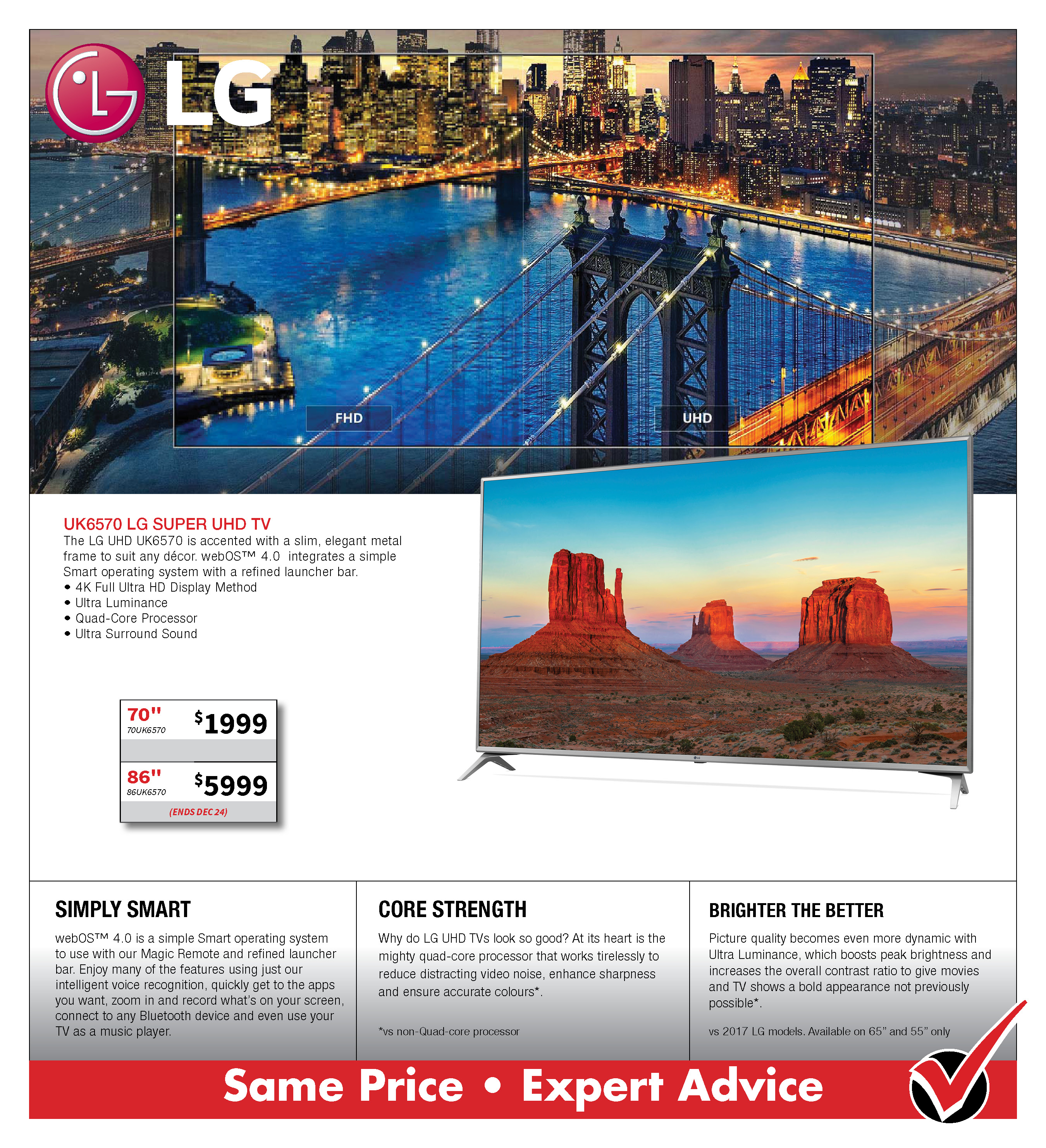 LG UK6570 SUPER UHD TV