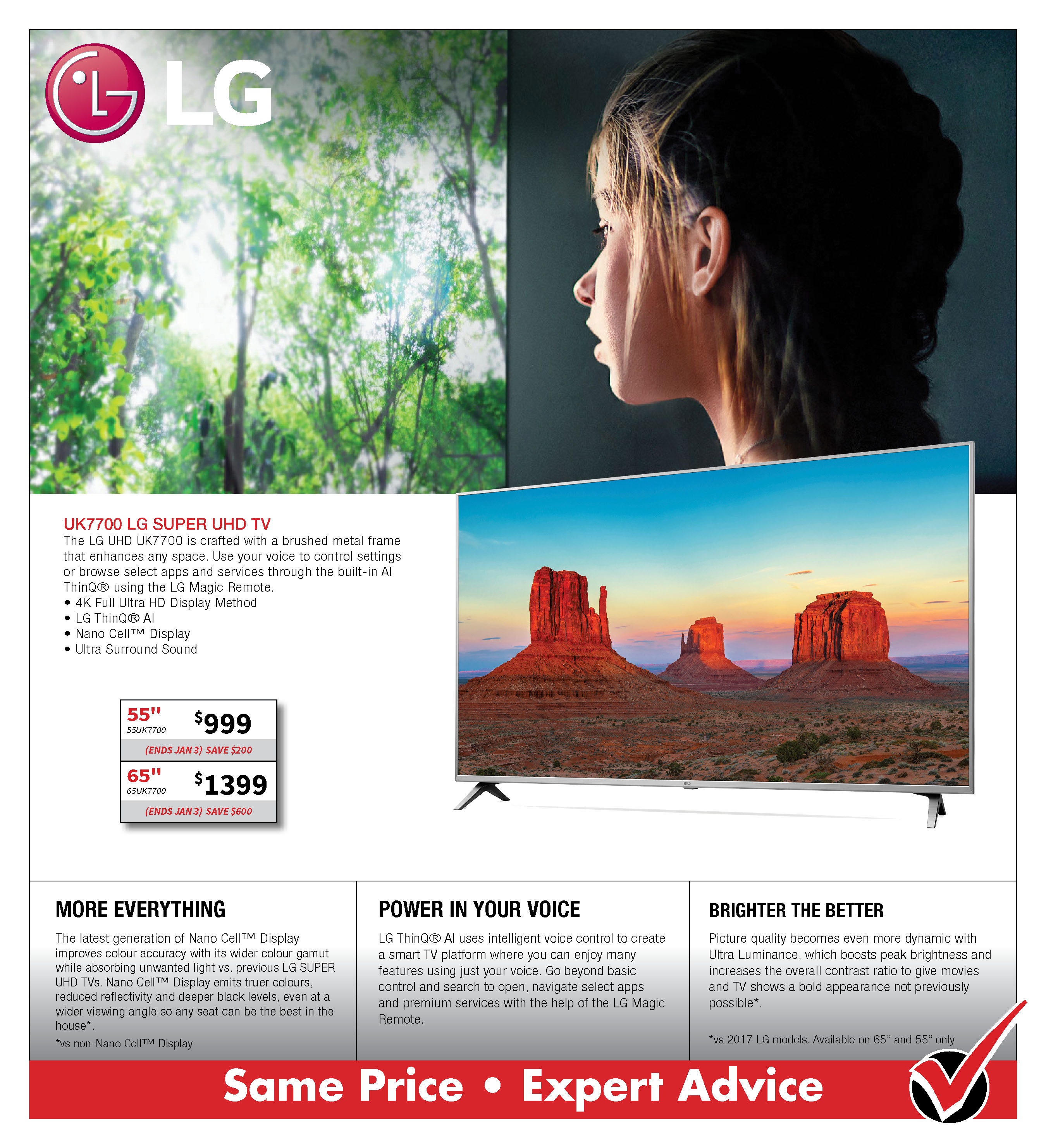 LG UK7700 SUPER UHD TV