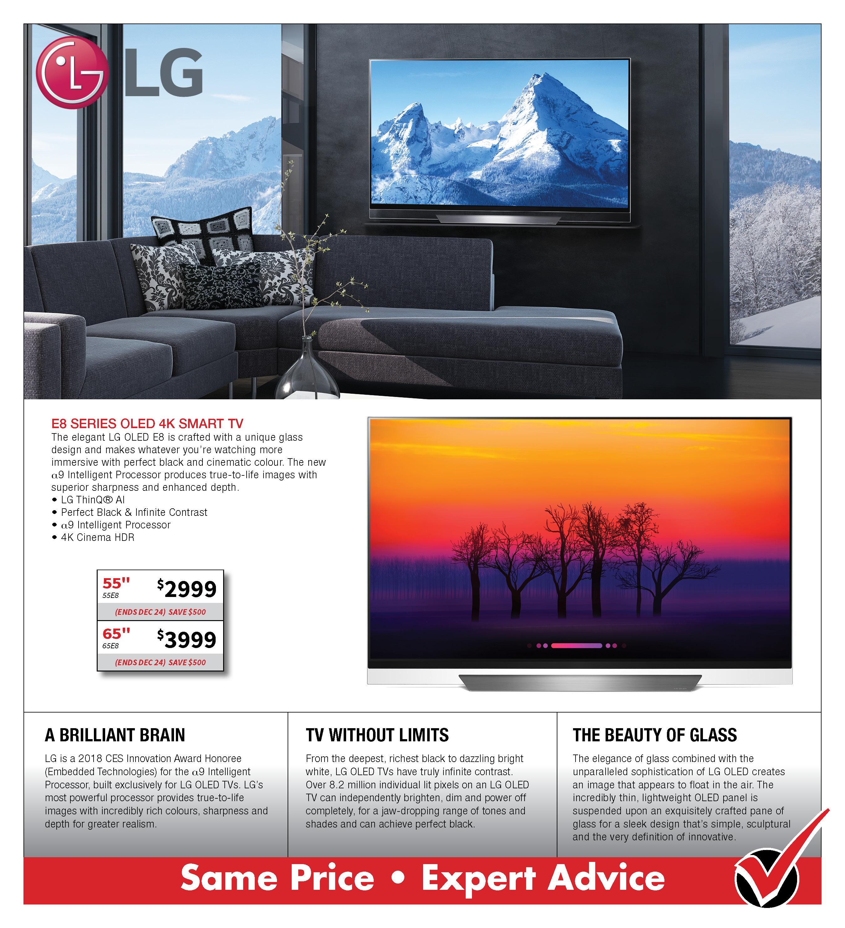LG E8 OLed 4K Smart TV