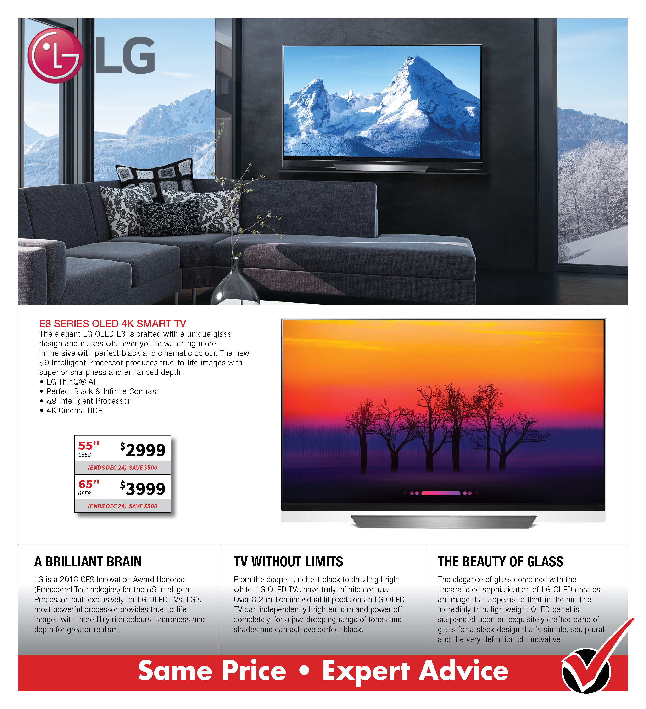 LG E8 OLed 4K Smart TV