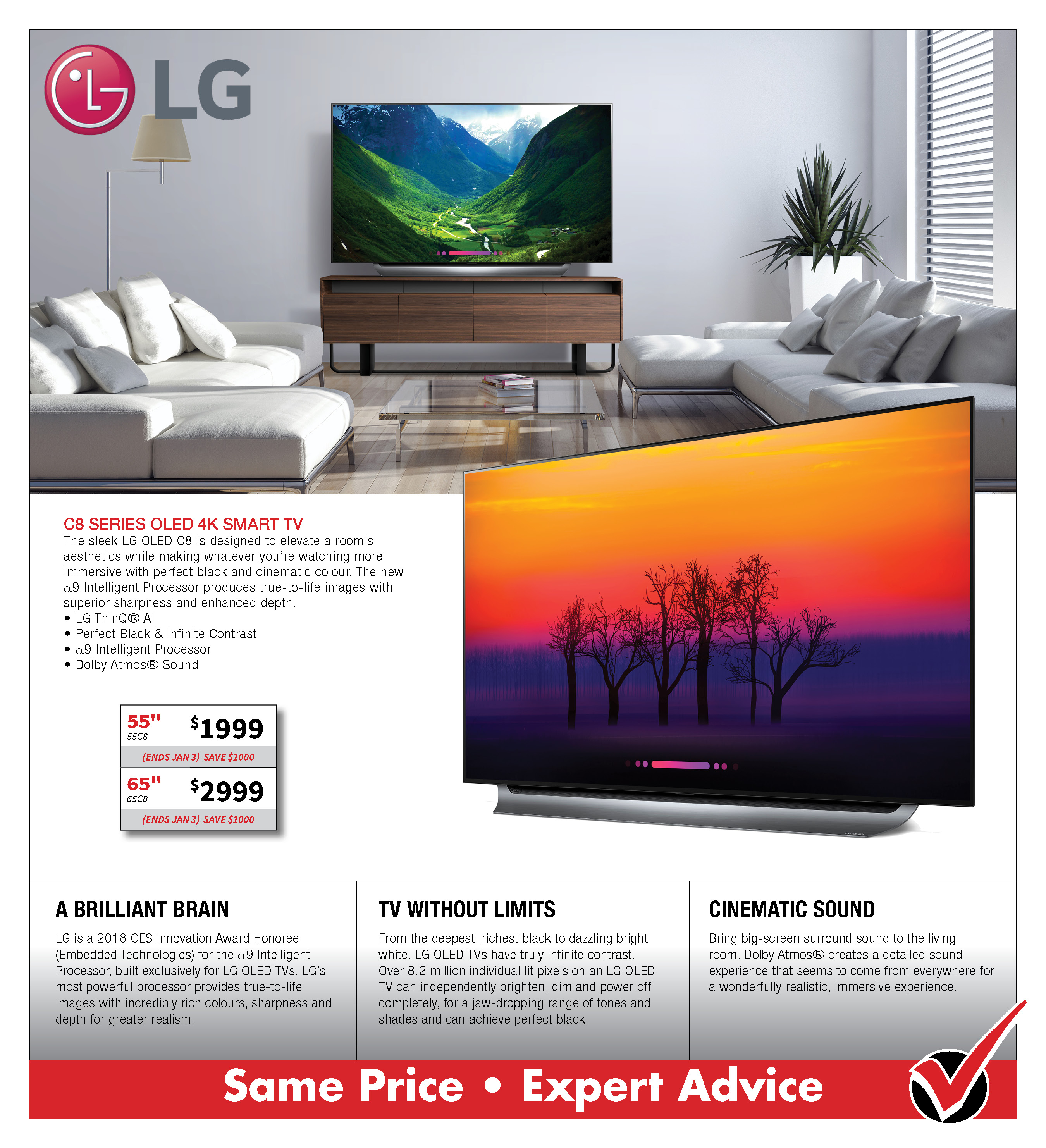 LG C8 OLED 4K SMART TV