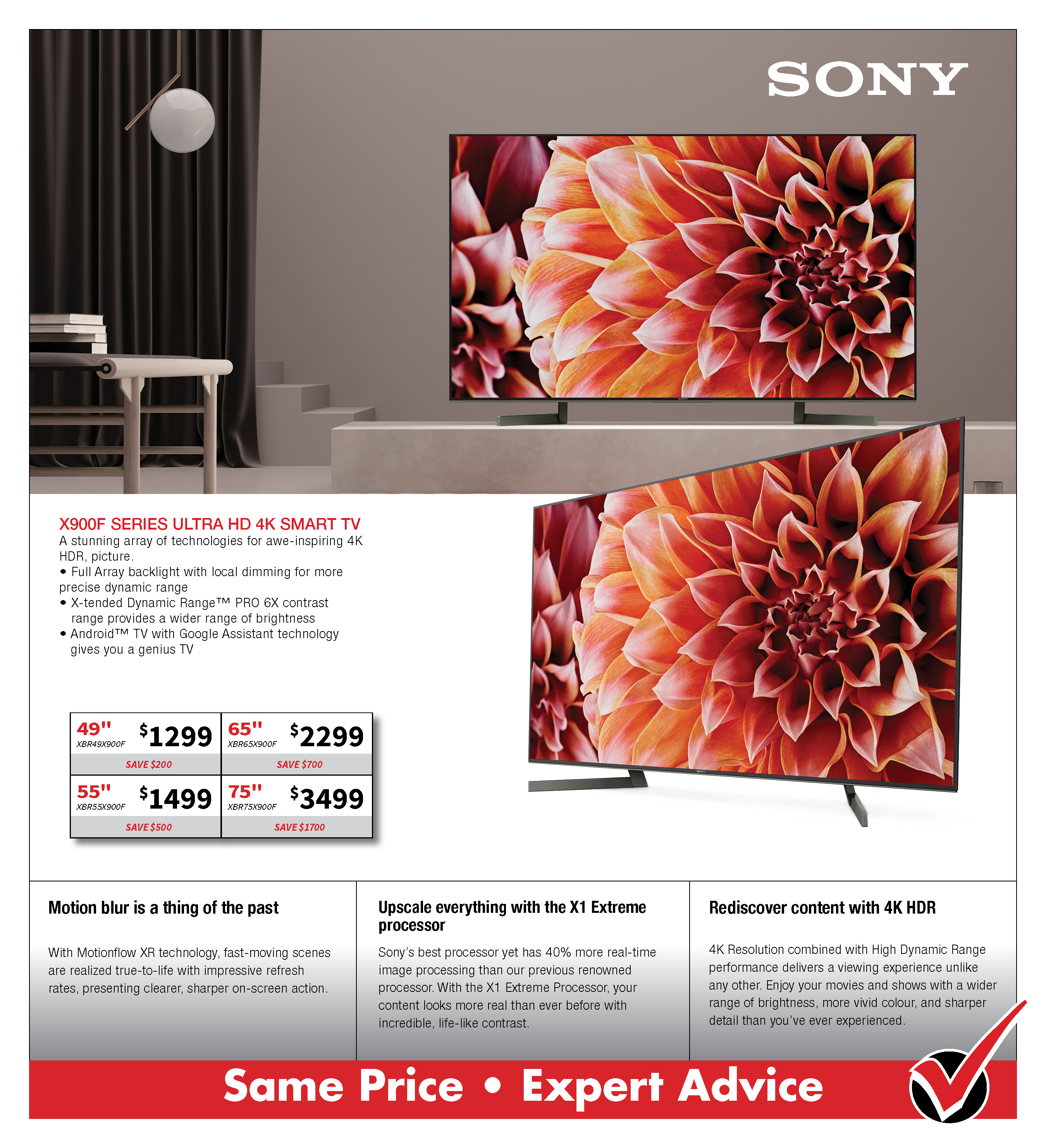 Sony X900F UHD 4K TV
