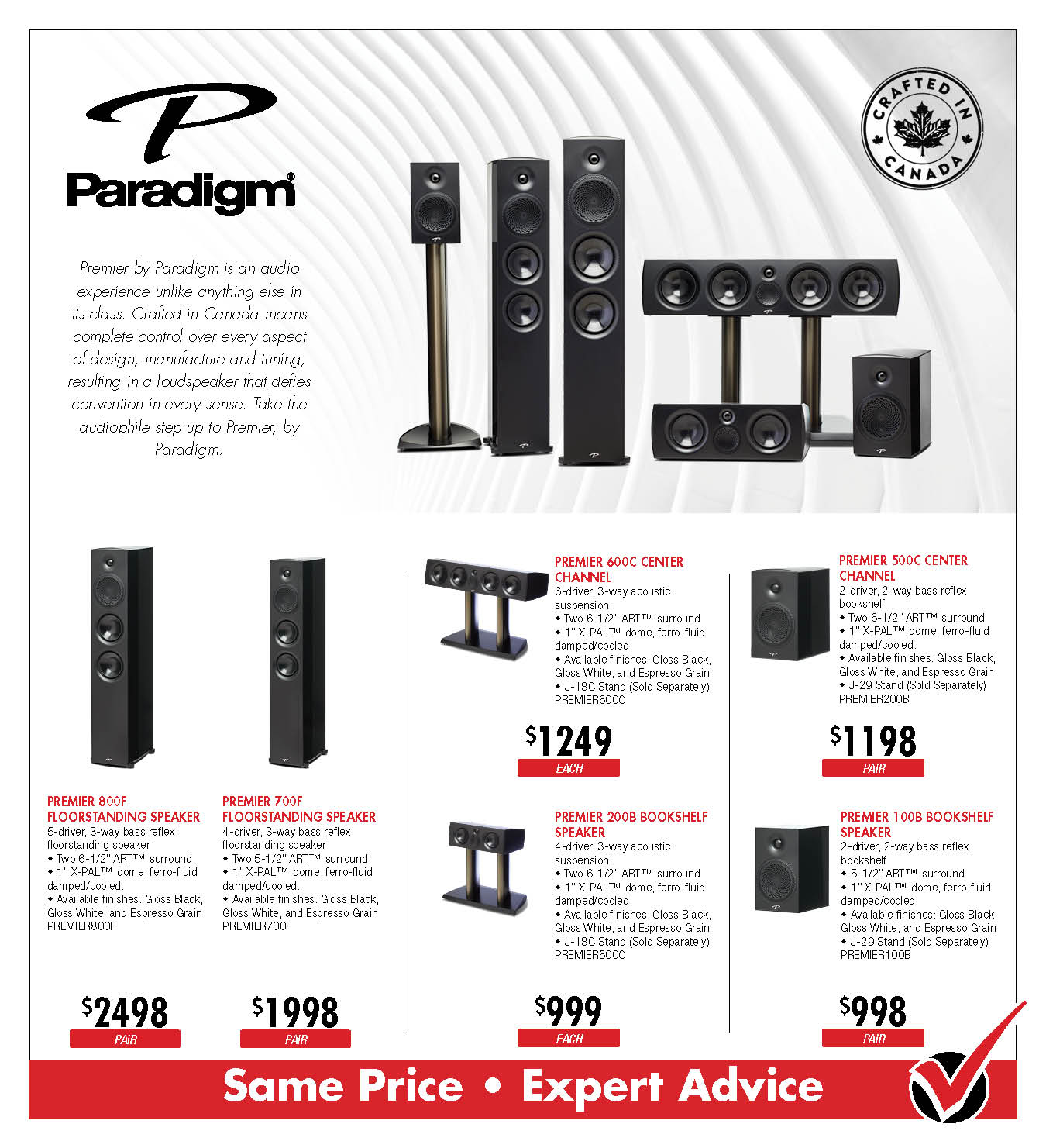 Paradigm Premier Speakers