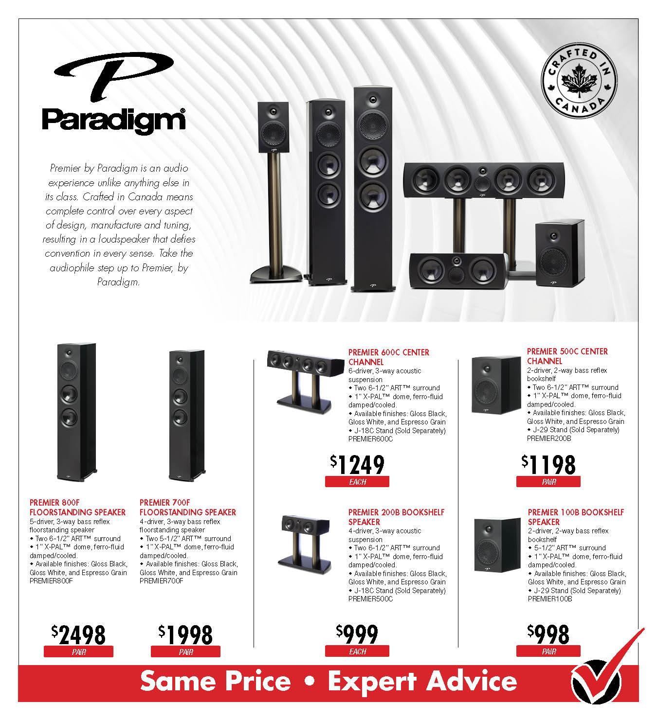 Paradigm Premier Speakers