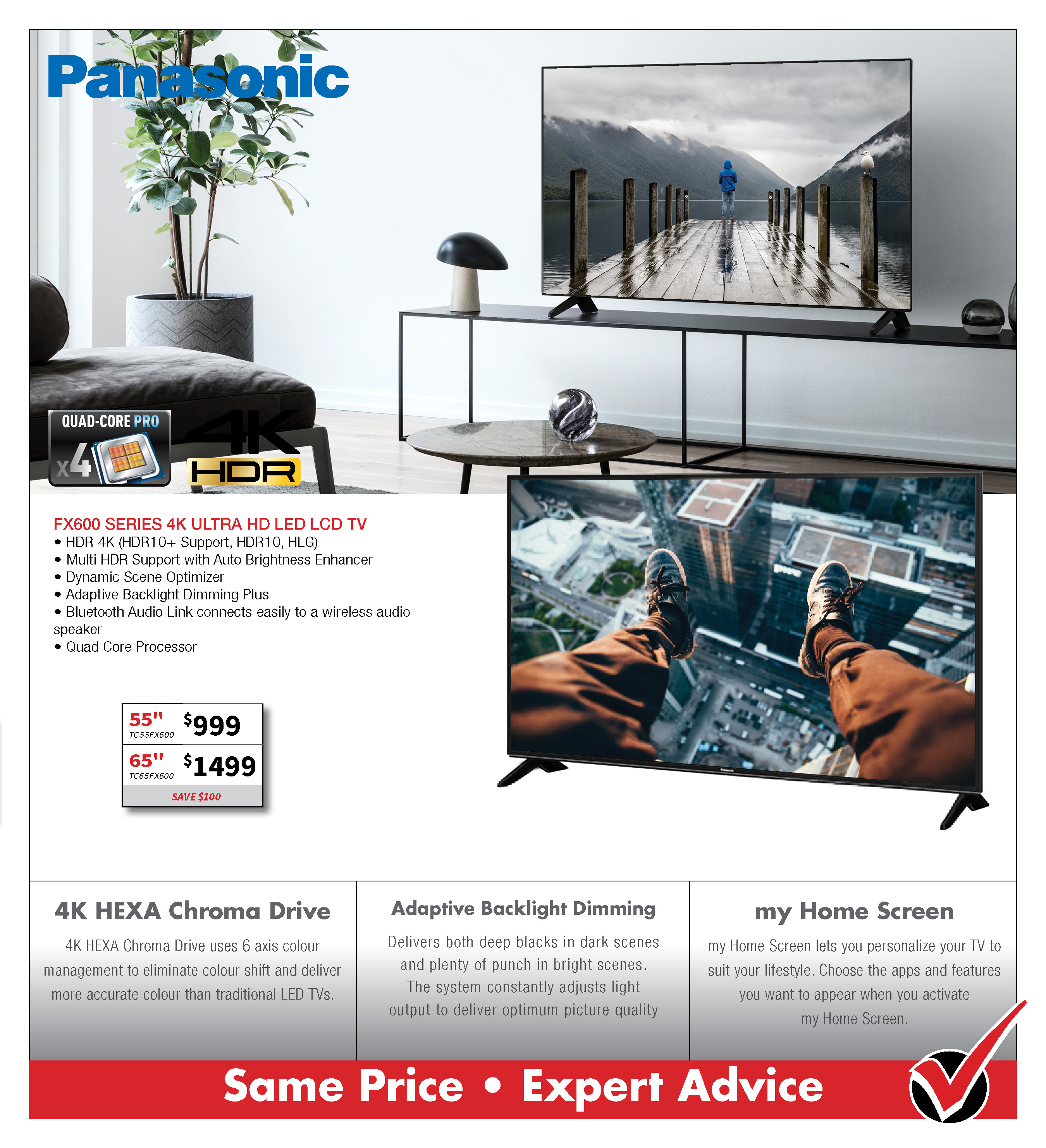 Panasonic FX600 UHD TV