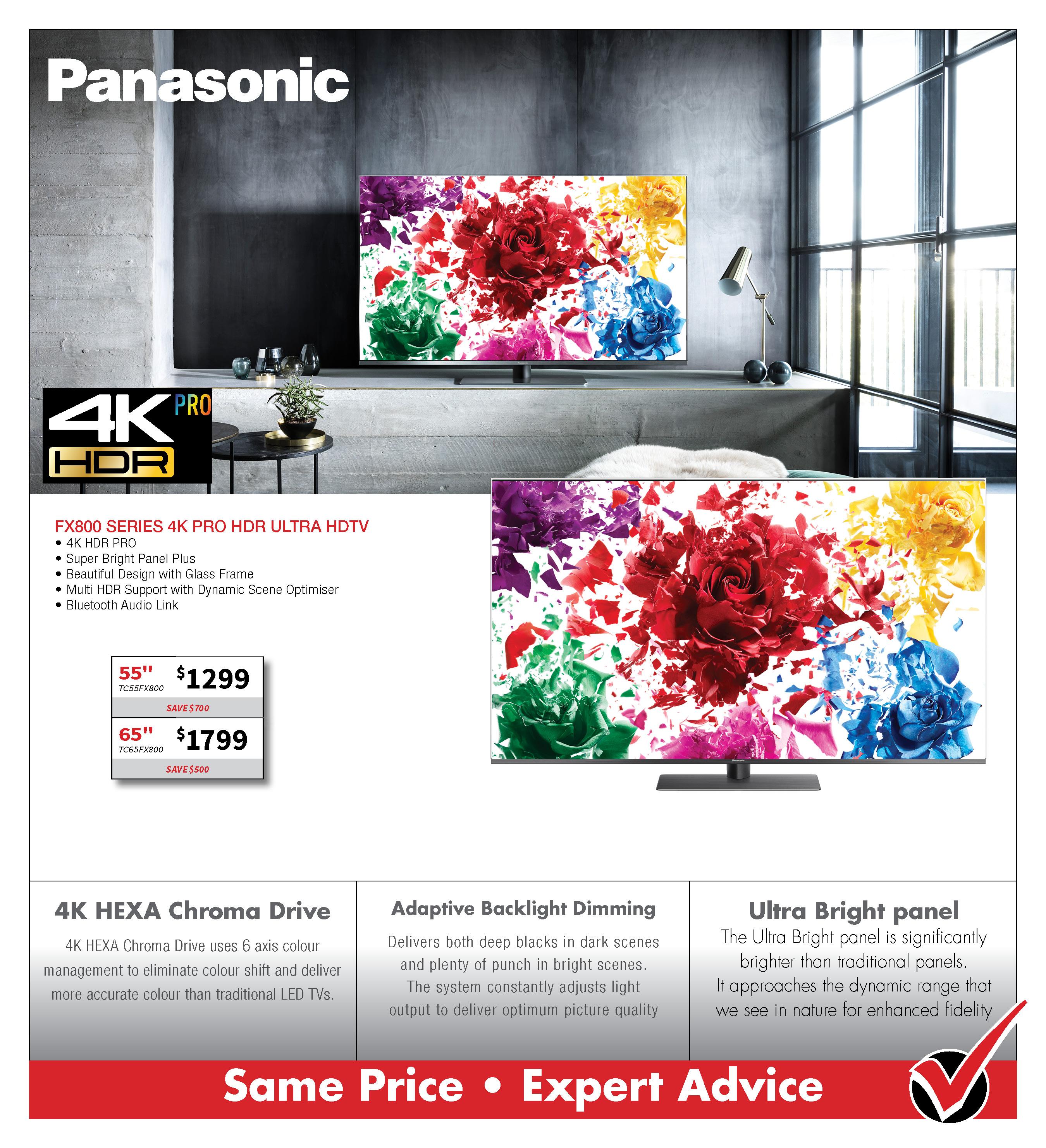 PANASONIC FX800 4K HDTV