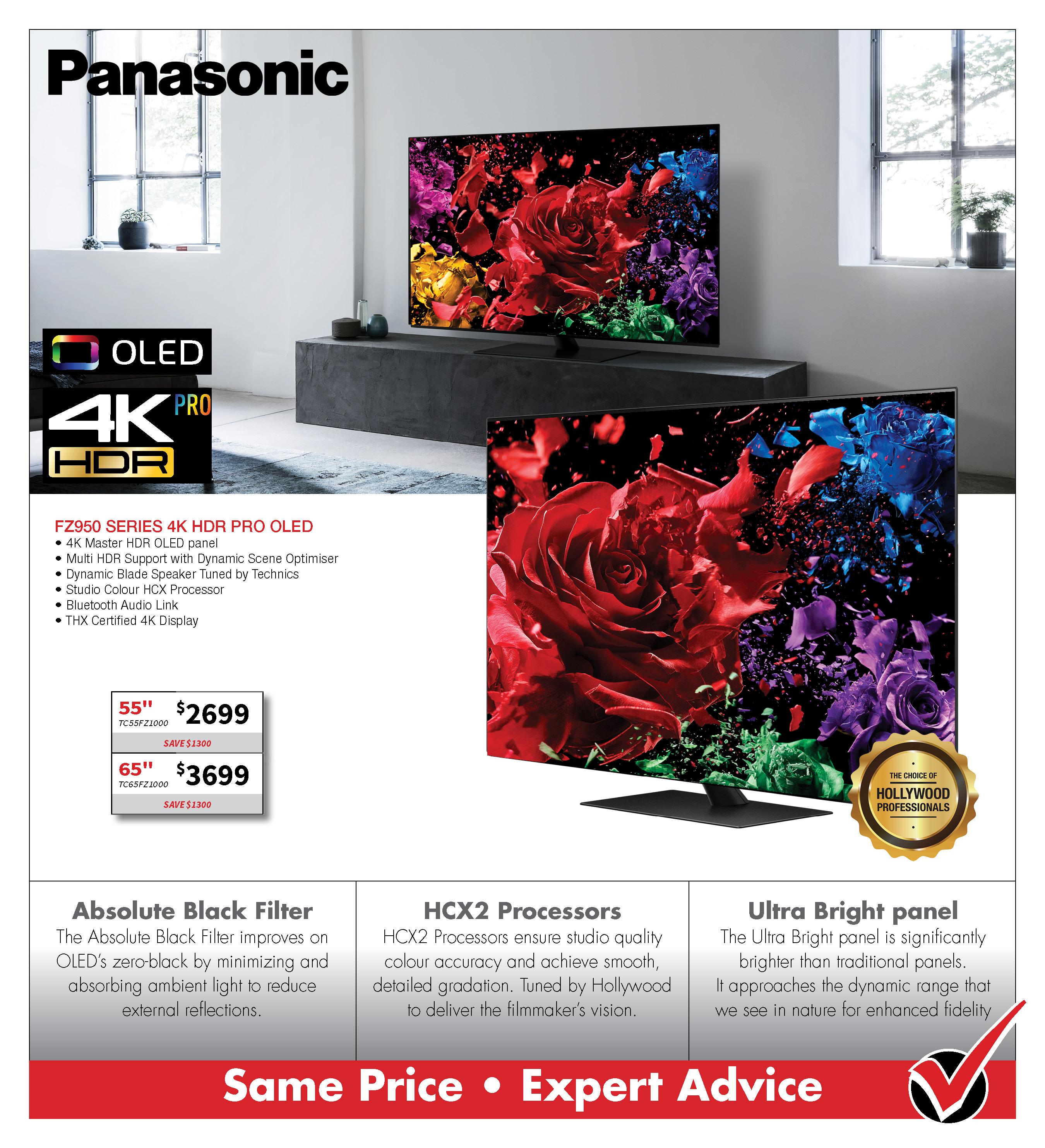 PANASONIC FZ950 4K OLED TV