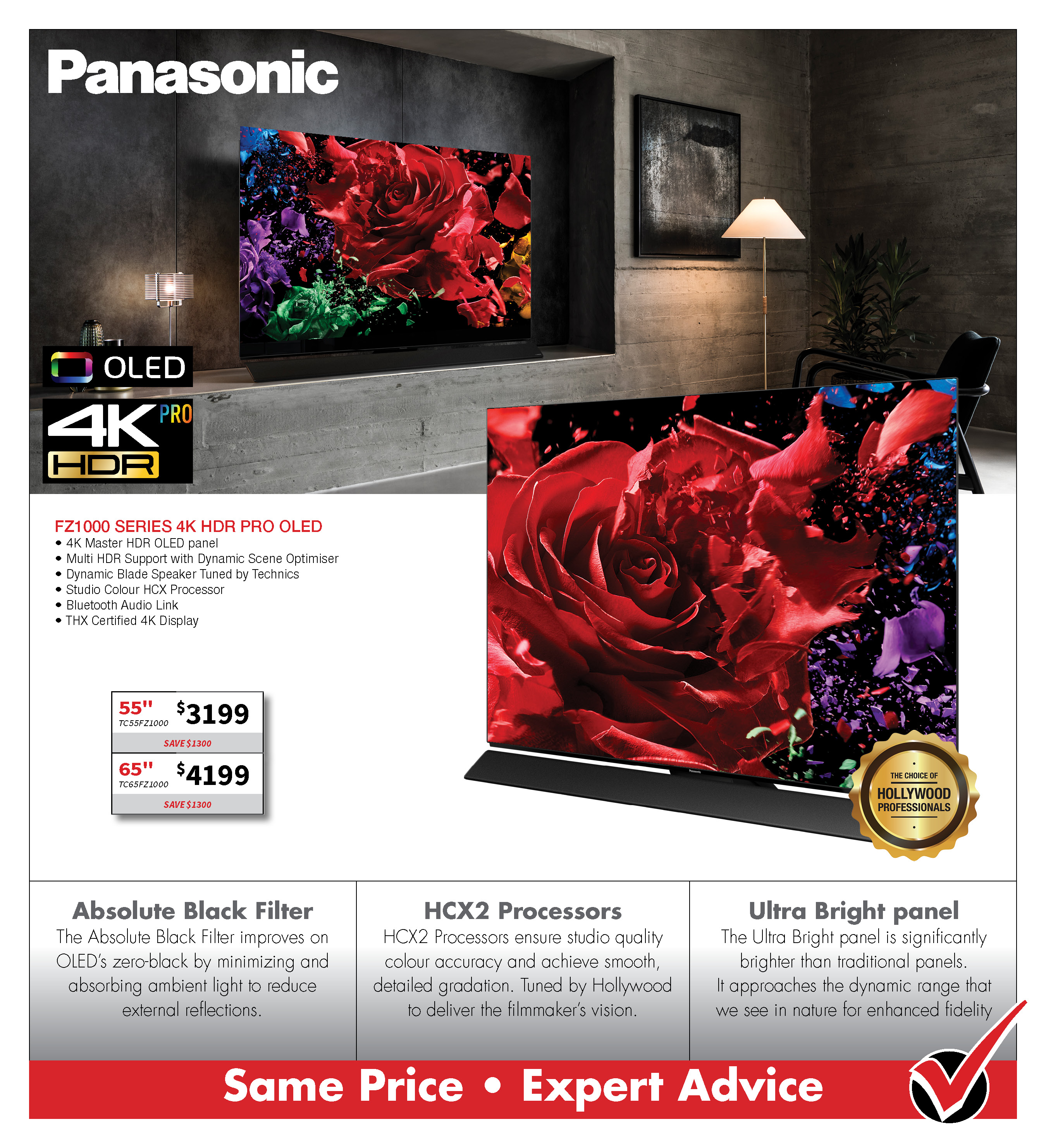PANASONIC FZ1000 4K OLED TV