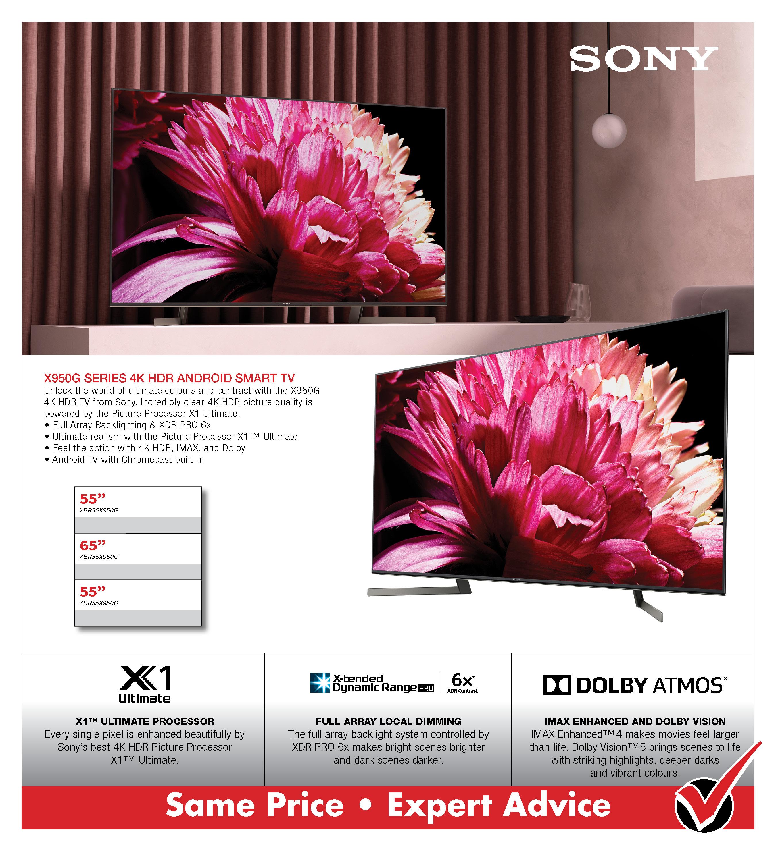 SONY X950G 4KSmart TV