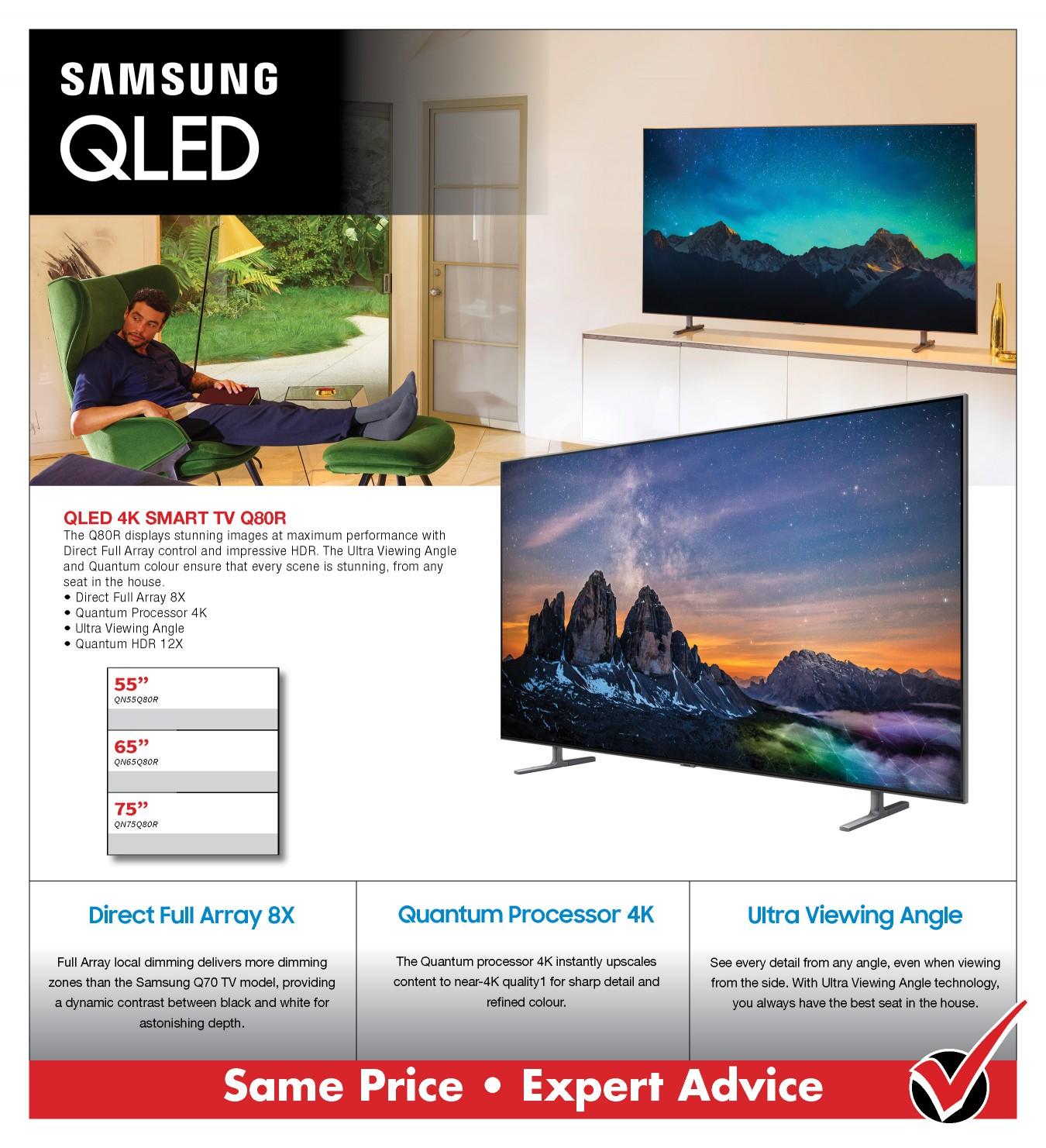 Samsung Q80R 4K Smart TV