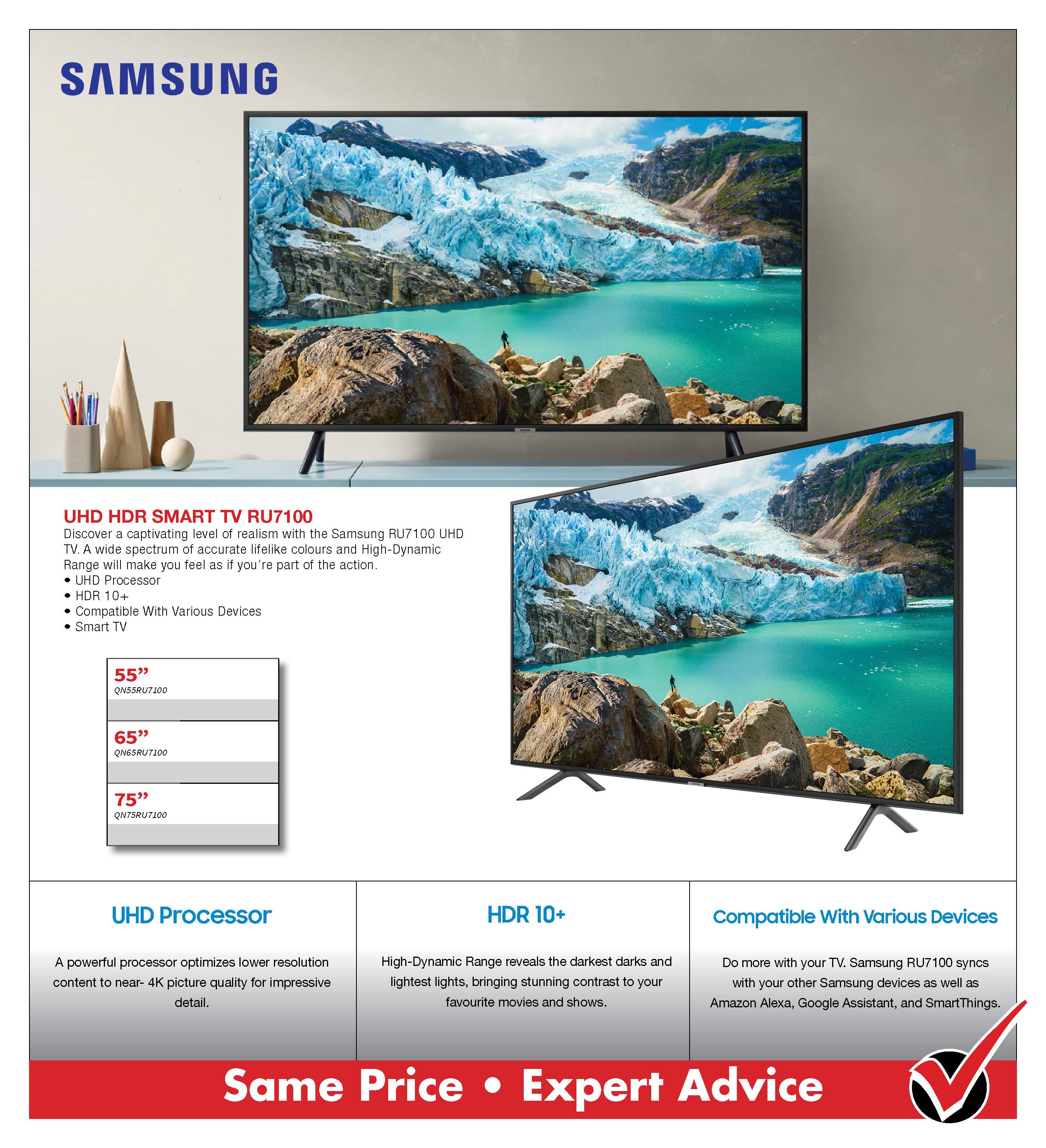 Samsung RU7100 Smart UHD TV