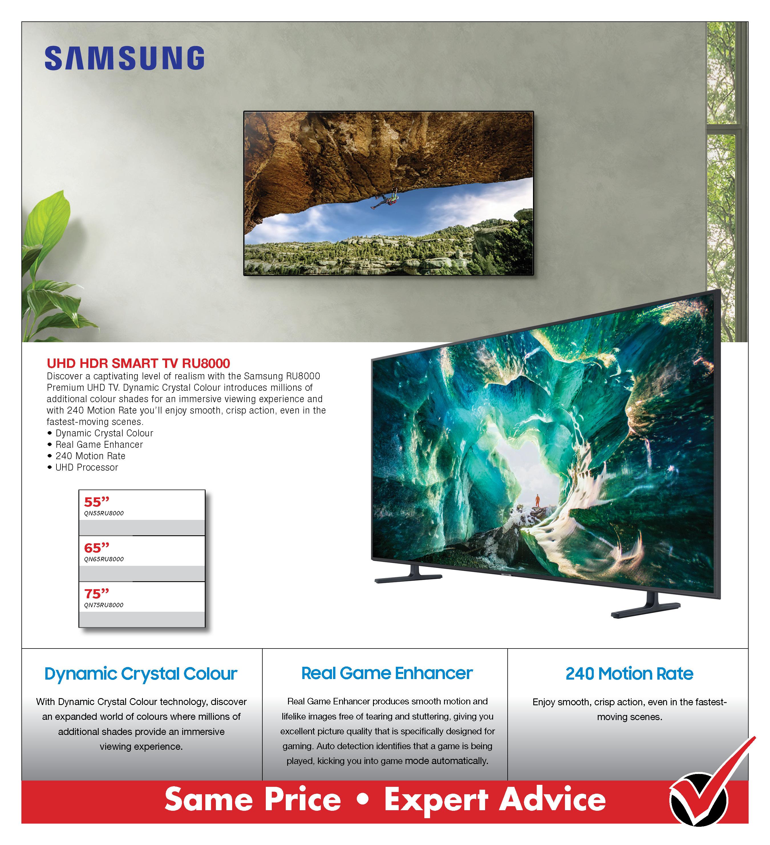 Samsung RU8000 Smart UHD TV