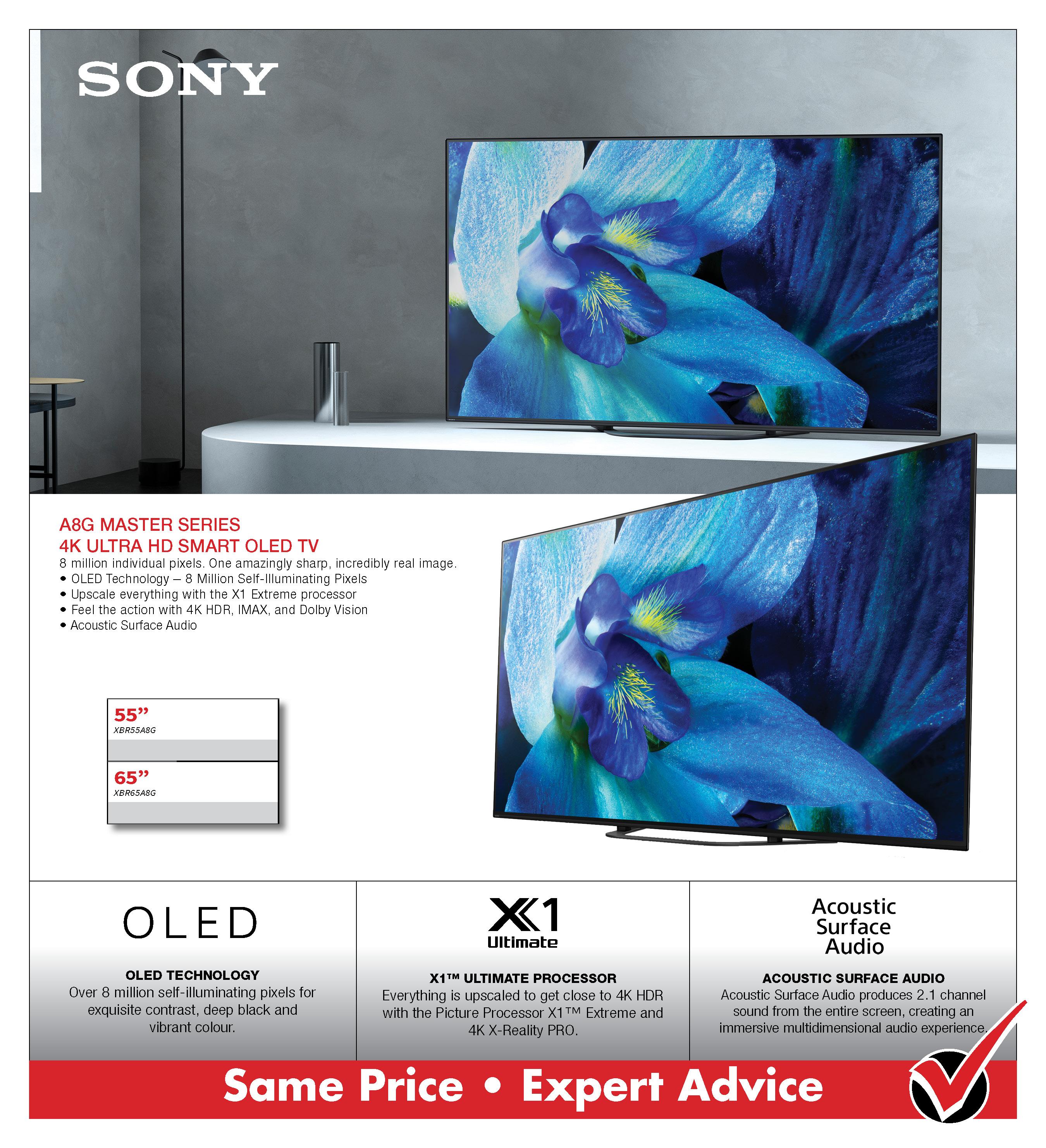 Sony A8G OLED 4K TV