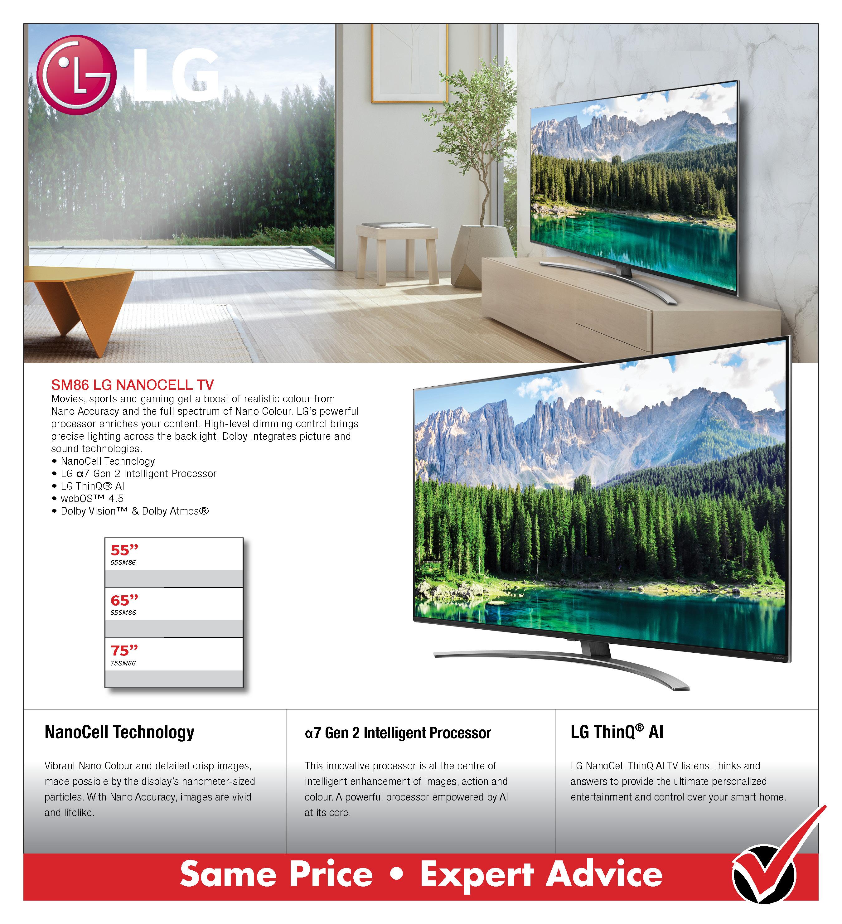 LG SM86 NanoCell TV