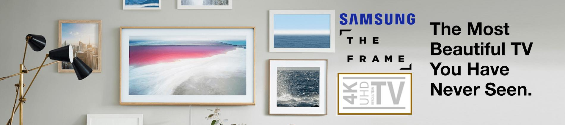 Samsung The Frame 4K UHD TV that looks like your art when it is turned off.