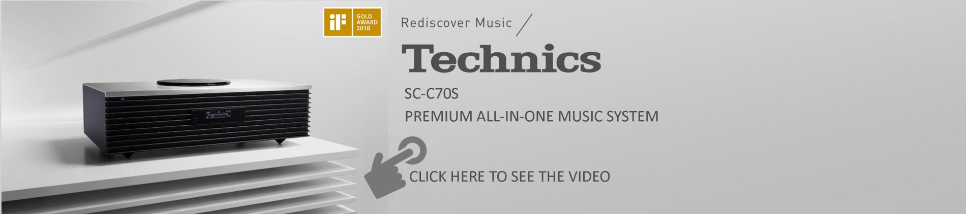 The Technics SC-C70S All-In-One Music System is now available at Atlas Audio Video Unlimited