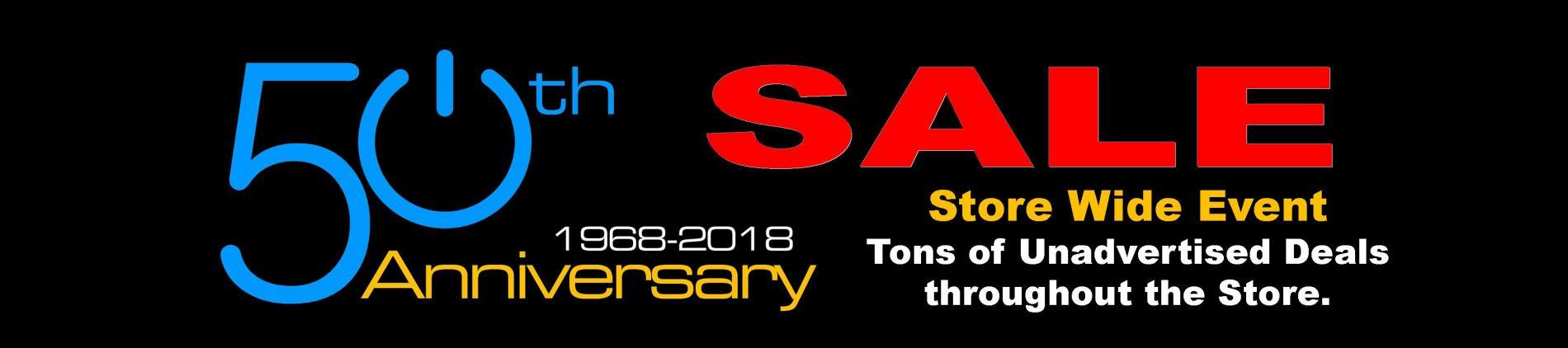 50th Anniversary Store Wide Sale