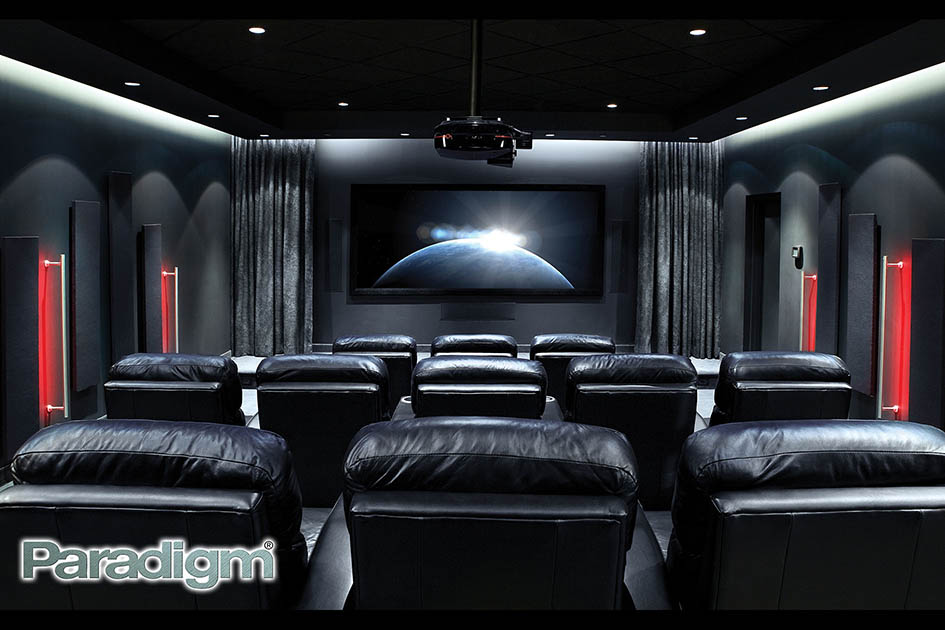 Home theatre, leather seats
