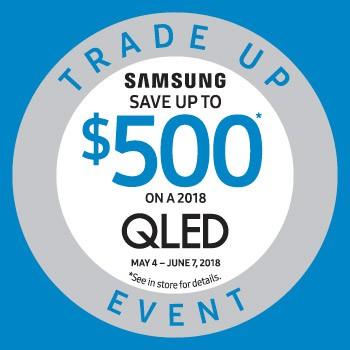 Samsung trade up, Qled, LED TV.