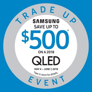 Samsung trade up, Qled, LED TV.